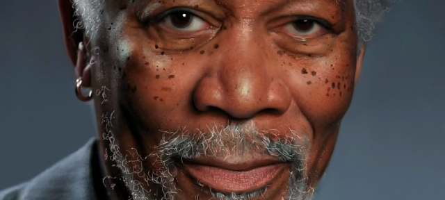 iPad : Portrait de Morgan Freeman