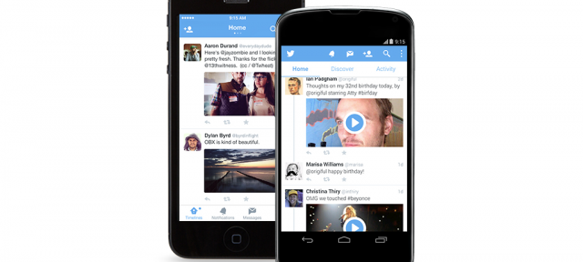 Twitter : Applications mobiles