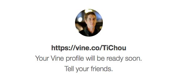 Vine : URL personnalisée - Confirmation