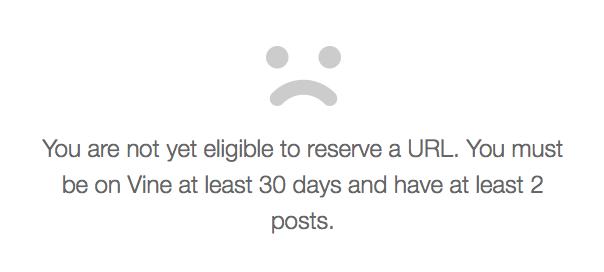 Vine : URL personnalisée - Erreur