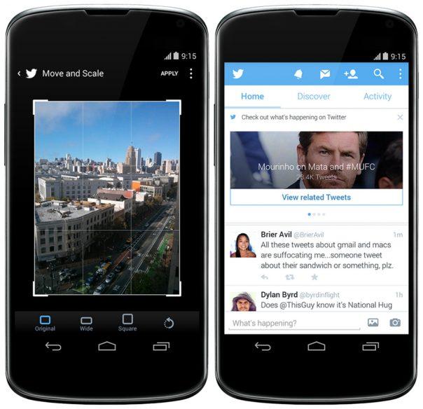 Twitter Android : Retouche et découverte