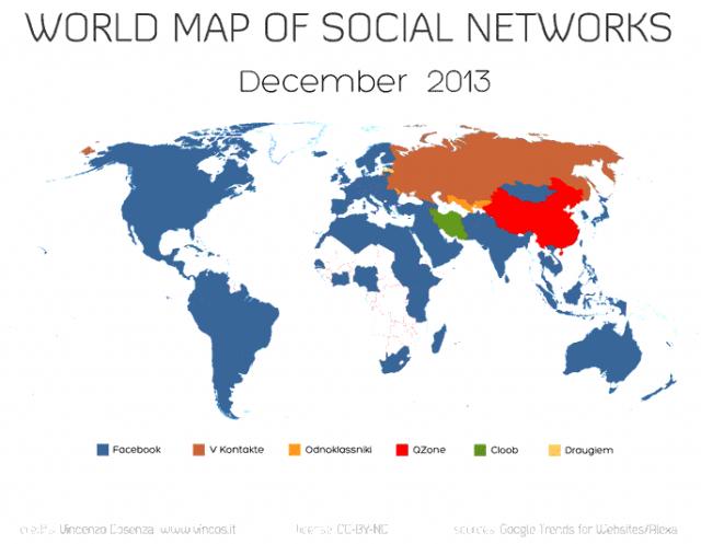 Carte médias sociaux 2013