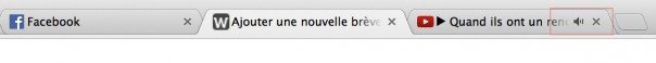 Chrome : Icone son dans onglet