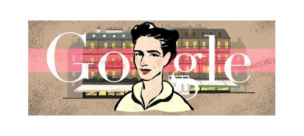 Google : Simone de Beauvoir, la philosophe en doodle