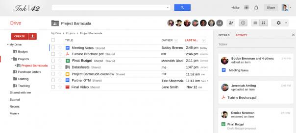 Google Drive : Activités des fichiers et dossiers enregistrées