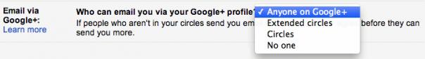 Google+ : Préférence autocomplete Gmail