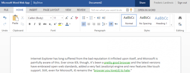 Office Web App : Flat design