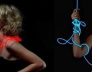 La robe qui change de couleur grâce à la fibre optique