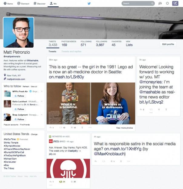 Twitter : Profil Facebook