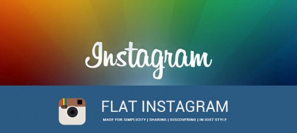 Flat Instagram : L'application au goût du jour