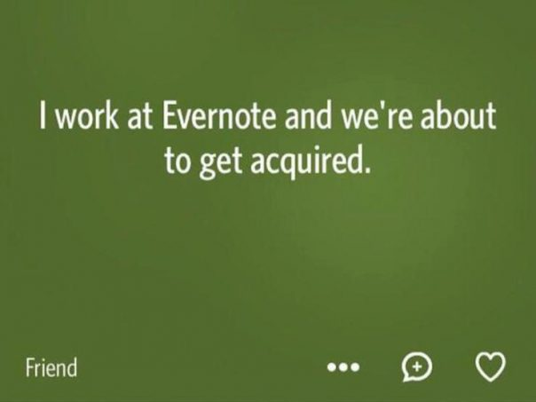 Publication Evernote application Secret
