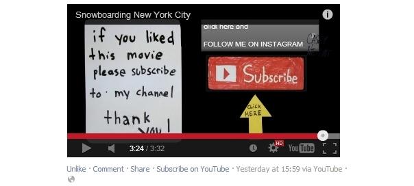 Facebook : Lien d'abonnement aux chaînes YouTube sous les vidéos