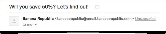 Gmail : Bouton de désinscription
