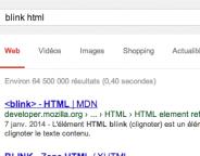 Google : Easter egg clignotant pour la balise blink
