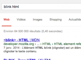 Google : Easter egg - blink html