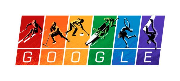 Google : Charte olympique, doodle en couleurs pour l'égalité