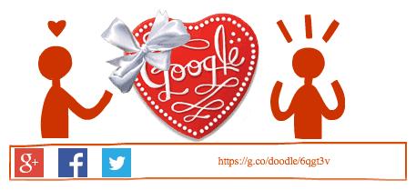 Google : Doodle Joyeuse Saint Valentin - Boîte de chocolats