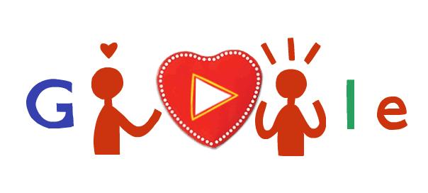 Google : Doodle Joyeuse Saint Valentin