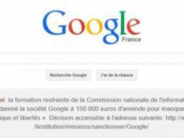 Google : Condamnation par la CNIL