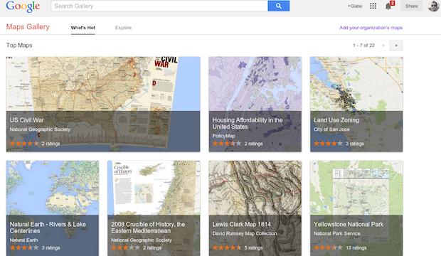 Galerie des cartes Google