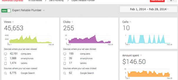 Google AdWords Express : De nouveaux tableaux de bord multisupports