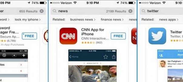 App Store : Test des suggestions connexes