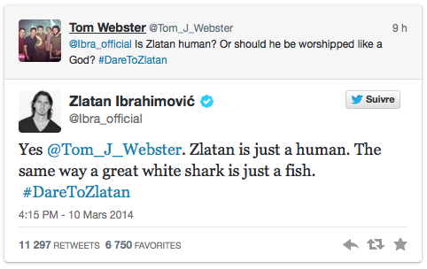Dare to Zlatan Twitter