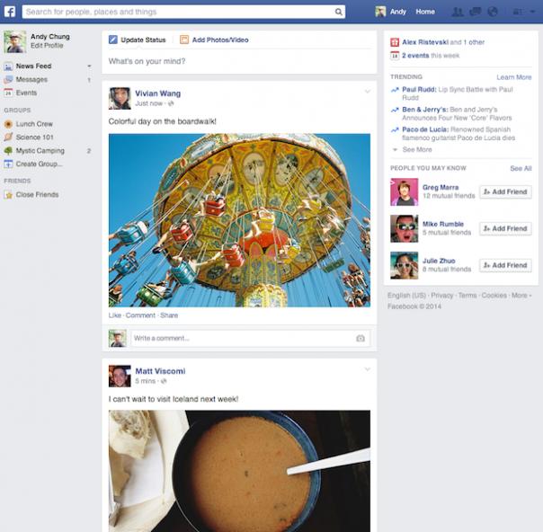 Facebook : Nouveau flux d'actualité en détails