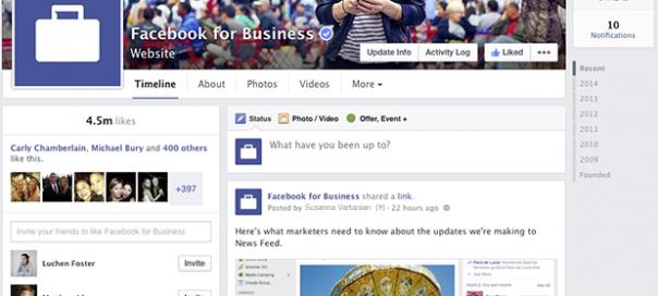Facebook : Le nouveau design des pages dévoilé