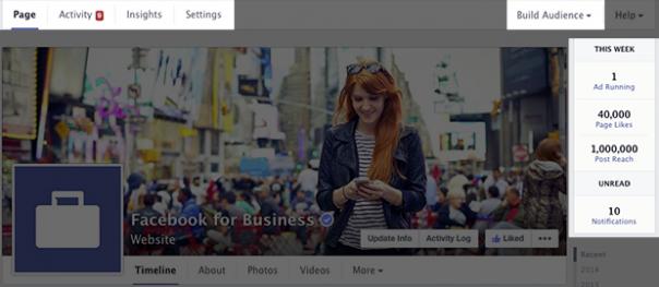 Pages Facebook : Nouveau design - Outils admins