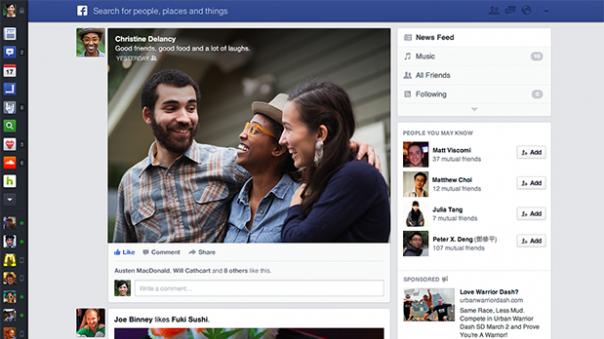 Facebook : Test de flux d'actualité