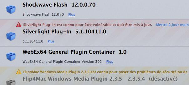 Firefox : Plugins