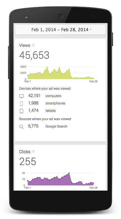 Google AdWords Express sur mobile
