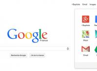Google : Menu de navigation