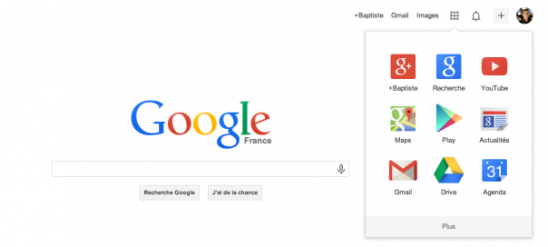 Google : Personnaliser le menu de navigation par drag & drop