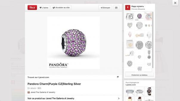 Pinterest : Cadeaux - Flux de produits en détails