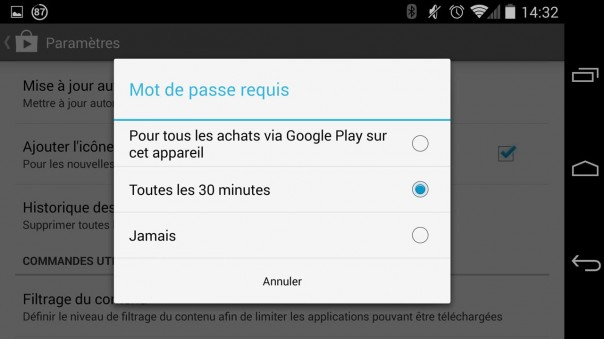 Update sécurité Google Play