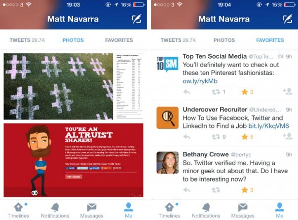 Twitter mobile : Nouveau profil utilisateur 2