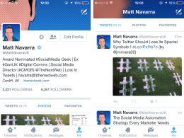 Twitter mobile : Nouveau profil utilisateur