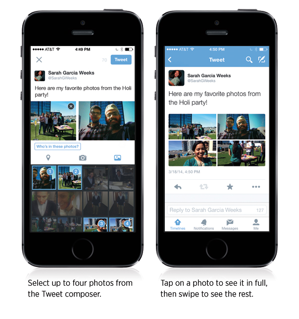 Twitter : Envoi multiple de photos