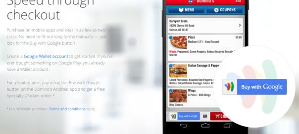 Payez les pizzas Domino's avec Google Wallet