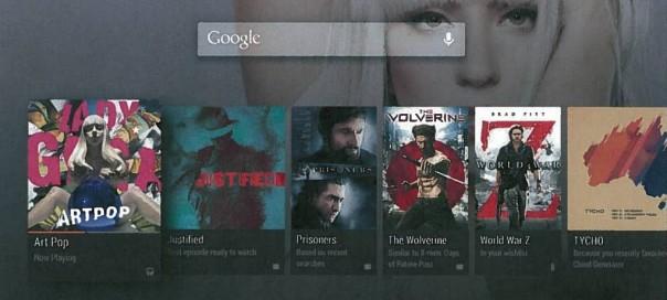 Android TV : Plateforme de salon, les premières images