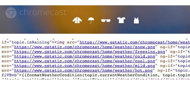 Chromecast : Prévisions météo sur l'écran d'accueil