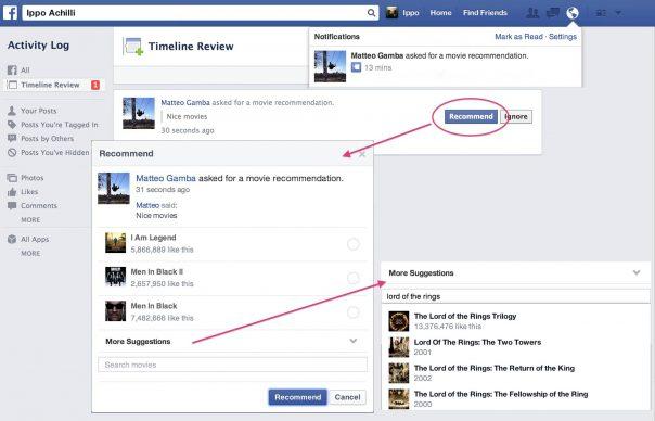 Facebook Recommandations