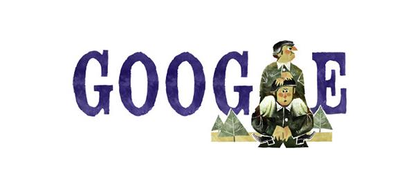 Google : Gérard Oury & La Grande Vadrouille en doodle