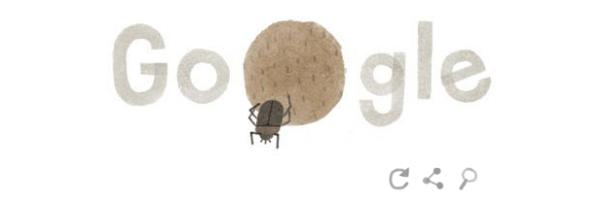 Google : Doodle Jour de la Terre 2014 - Bousier