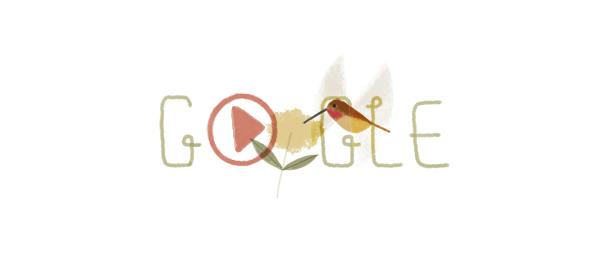 Google : Jour de la Terre 2014 avec le colibri roux