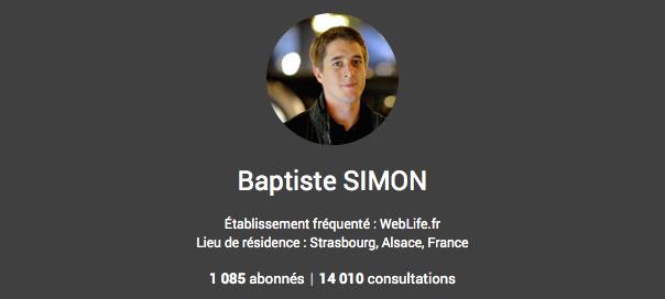 Google+ : Nombre de consultations (profil, posts & photos) affiché