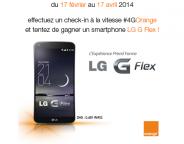 Foursquare & Orange : Gagner un smartphone  LG G Flex