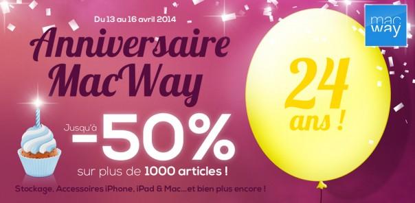 MacWay : Anniversaire - 24 ans